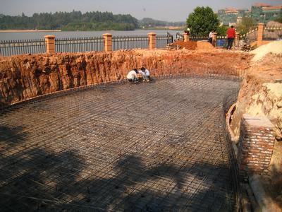 围观~金碧林13年总结的鱼池设计建造步骤图片