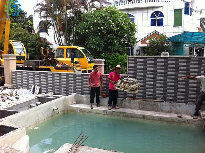 金碧林鱼池设计图 鱼池过滤设计