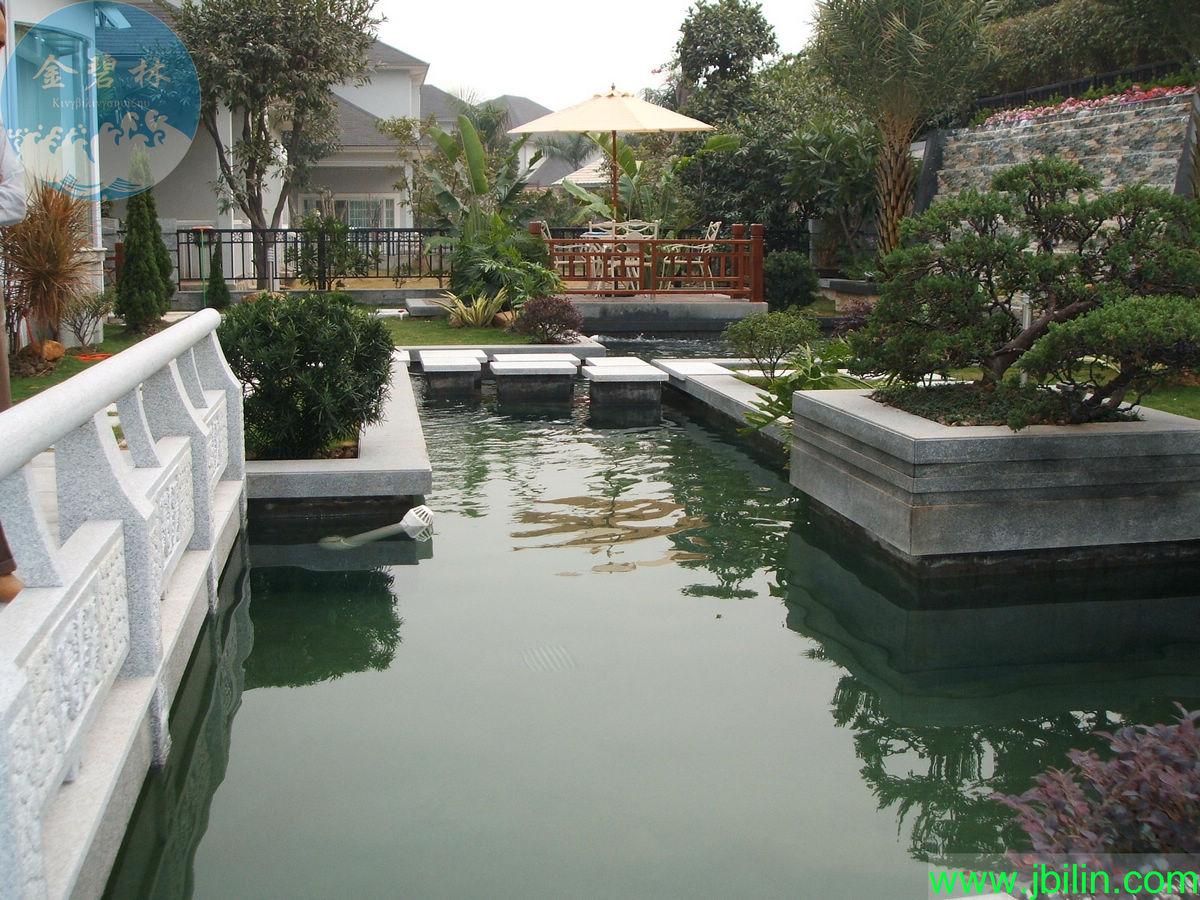 平面设计-锦鲤园林式别墅式鱼池的设计方案-尽在
