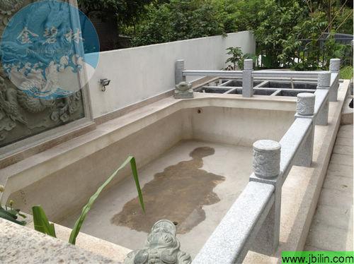 鱼池设计建造工程-金山谷别墅花园鱼池