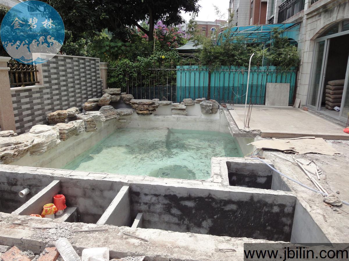 佛山鱼池设计建造案例——陈先生别墅鱼池过滤系统案