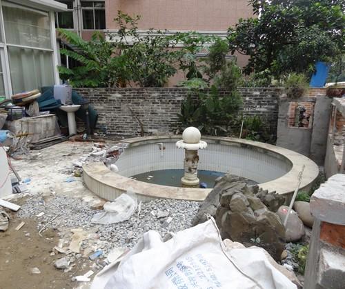 广州庭院鱼池过滤系统设计图片